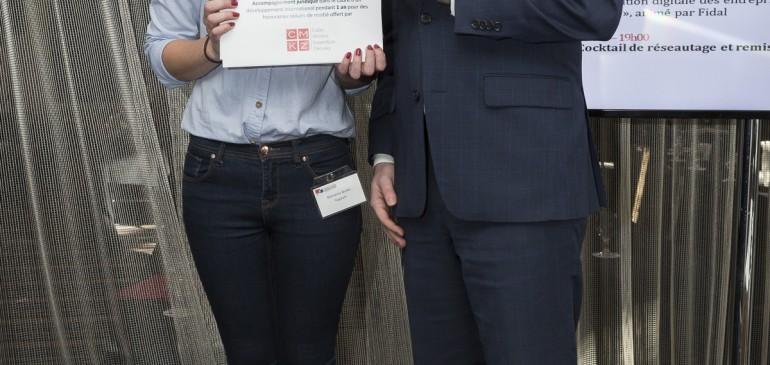 Félicitations à Yapouni, gagnante du Concours de Start-up de la 5ème édition de la Convention d'affaires Canada-France